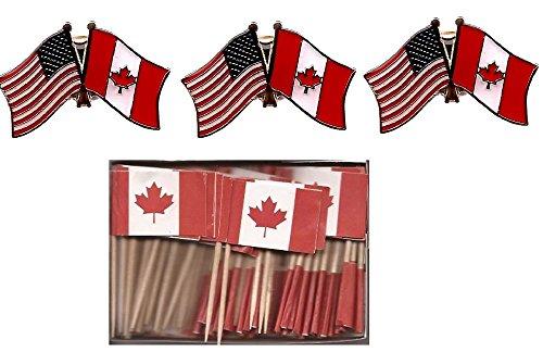 Us Canada Crossed Flag   4