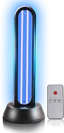 360 ° No obstáculo hogar Desinfección de la lámpara,Portátil Mobile Anti- Virus ozono esterilización UV Tasa de 99%,Limpia el Aire, 65w con Control Remoto: Amazon.es: Hogar