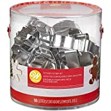 wilton cookie cutters christmas - Wilton Holiday Shapes Metal Cookie Cutter Set, 18-Piece
