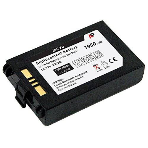 Motorola / Symbol MC70 & MC75 Series Scanners: Replacement Battery. 1950 mAh