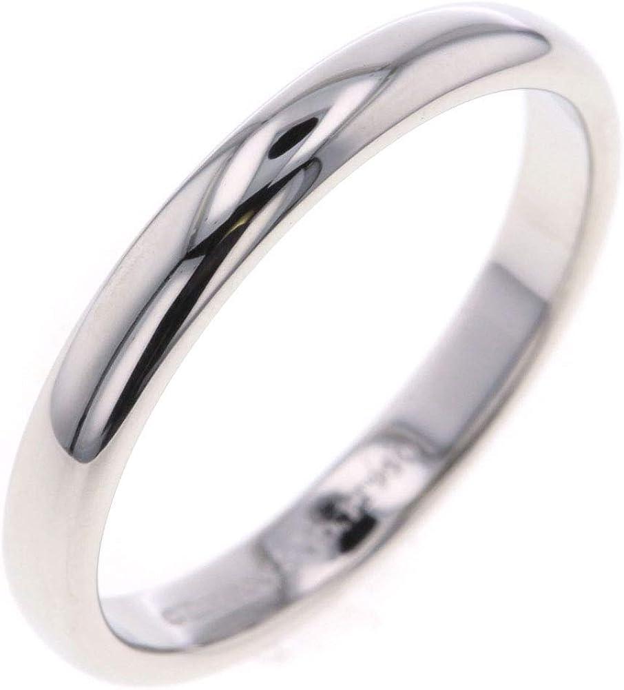 (ティファニー)TIFFANY&Co. ルシダバンド ウェディング 16.5号 リング・指輪 プラチナPT950 メンズ  [PD3]