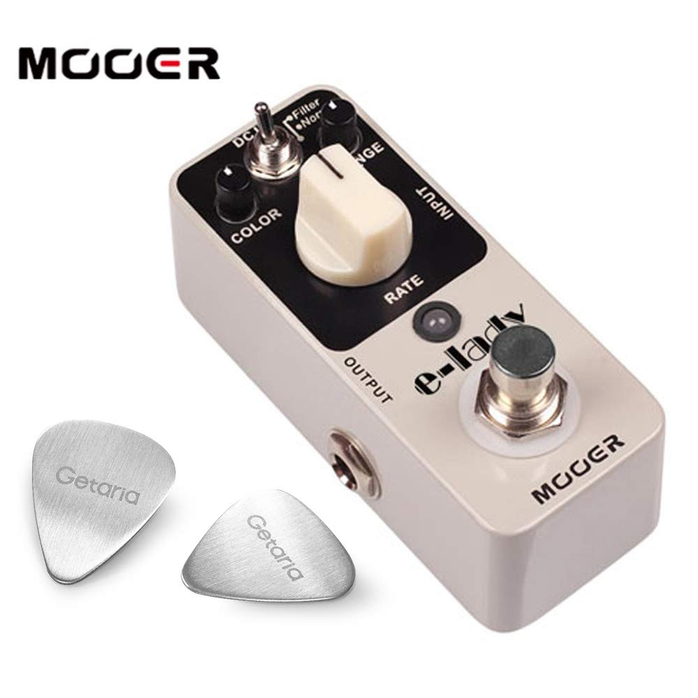 Mooer Effect Pedal Eleclady Classic Analog Flanger pedal With 2 Getaria Guitar Picks