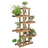 ZPMZ- Green Radish Solid Wood Flower Stand Living Room Indoor Plant Shelves Balcony Multilayer Wooden Landing Flower Pot Plant Succulents Potted Shelf Flower Pot Racks