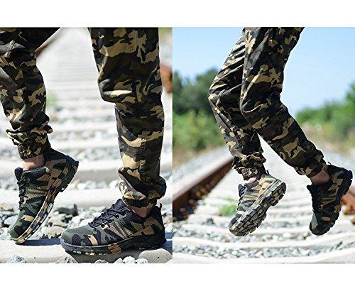 Verde Seguridad Senderismo Lily999 Acero De Con Unisex Antideslizante Puntera Zapatillas Trabajo adulto Zapatos Ligeros TUfnO