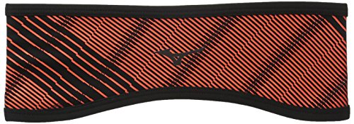 - Mizuno Running Breath Thermo Windproof Headband, One Size, Fiery Coral