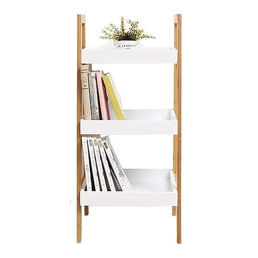 Estantes multiusos Repisa para Periódicos Rack De Almacenamiento Nordic Rack De Escalera De Piso Simple Estante De La Sala De Estar Dormitorio Rack De ...