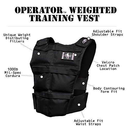 Brute Force Weight Vest: Murph Tested, WOD Approved + The Best Running & Mobility Adjustable Vest on the Market for Men + Women - USA MADE by BRUTE FORCE