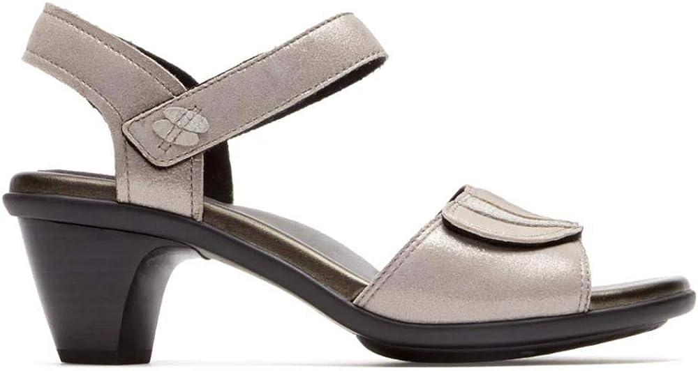 Aravon Womens Medici Sandal Heeled Sandal