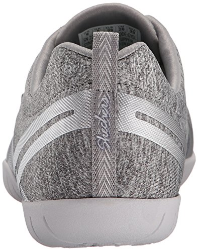 Skechers Sport Donna Moda Sneaker Grigio / Argento