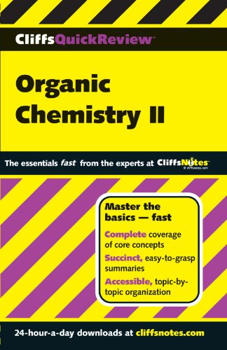 CliffsQuickReview Organic Chemistry II (Cliffs Quick Review (Paperback))