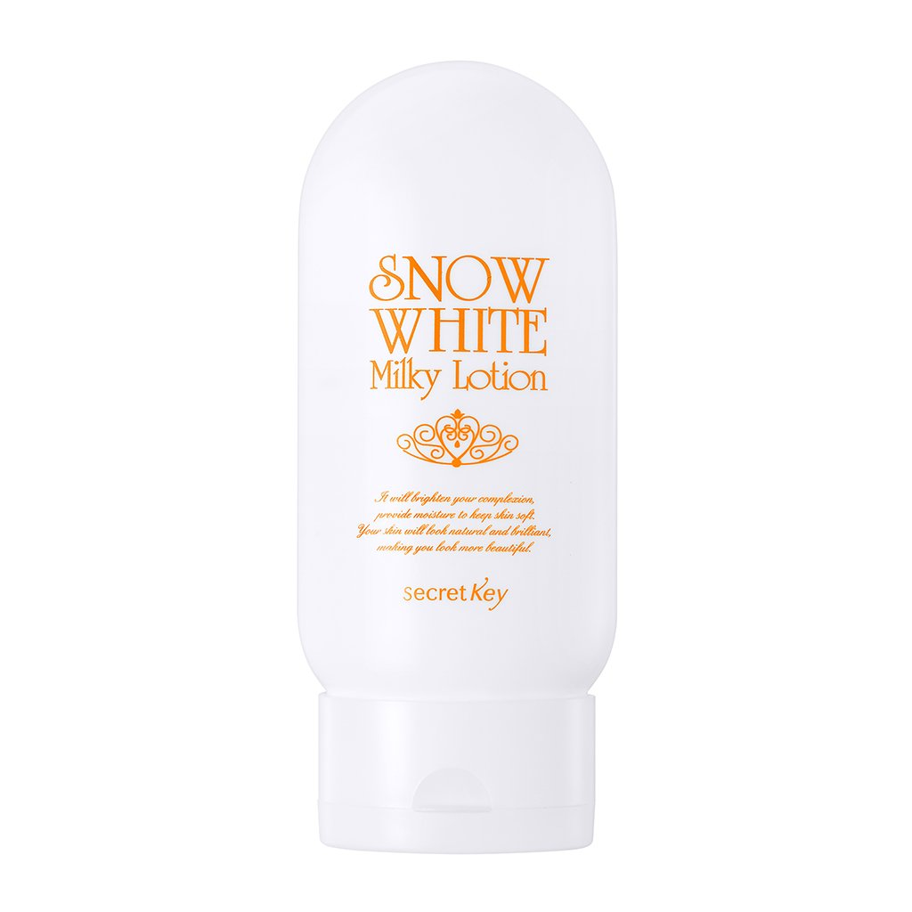 [SECRET KEY] Snow White Milky Lotion 4.06 fl.oz. (120g) - Tone up Brightening Moisturizing Lotion for Face and Body, Hyaluronic Acid & Aloe Vera & Green Tea Extract Soothe Skin by Secret Key