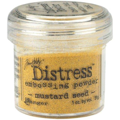 (Ranger TIM-21124 Tim Holtz Distress Embossing Powder, Mustard Seed,)