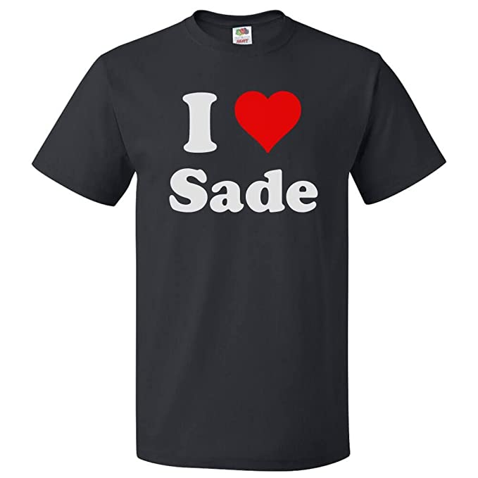 d16b668c7bbaf4 Amazon.com  ShirtScope I Love Sade T shirt I Heart Sade Tee  Clothing