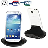 Iphone Case Cover, OTG Smart Multi-function Combo Charger Dock + USB 2.0 Card Reader for Samsung Galaxy SIV / SIV mini / SIII / Note / Other Mobile Phones, Support SD / MS / M2 / TF / MMC Card / USB Devices Case Mobile ( Color : Black )