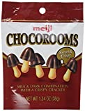 Meiji Chocorooms Light & Dark Combination with Crispy Cracker 1.34 oz Pouch (2 Pack of 12)