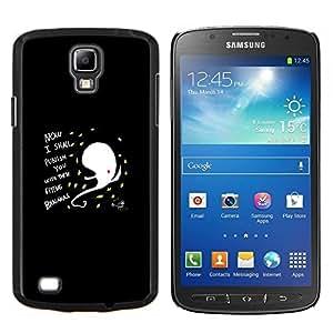 Qstar Arte & diseño plástico duro Fundas Cover Cubre Hard Case Cover para Samsung Galaxy S4 Active i9295 (Gracioso - Resumen Flying Bananas)