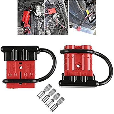 Paddsun 50A Battery Quick Connect Disconnect Electrical Plug Connector Kit Winch Trailer