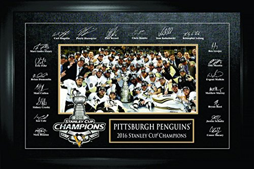 Pittsburgh Penguins Etched Signatures 2016 Stanley Cup Celebration - Autographed NHL Photos