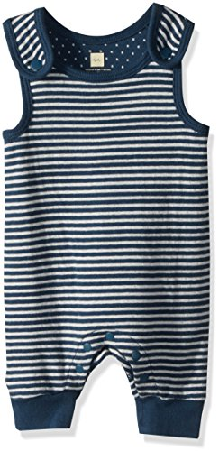 - Tea Collection Baby Boys' Dolce Blue Sleeveless Romper, Bedford Blue, 3-6