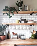 Industrial Pipe Shelf Brackets by DIY Cartel