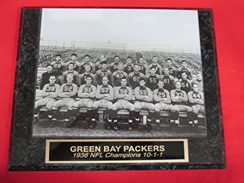 (1936 Green Bay Packers NFL Champions Engraved Collector Plaque w/8x10 TEAM Photo )