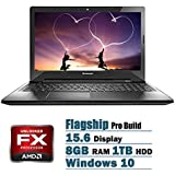 Lenovo Pro Flagship Edition 15.6 Laptop AMD FX-7500 Quad-Core AMD Radeon R7 8GB 1TB DVD Windows 10
