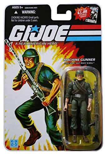 G.I. Joe 25th Anniversary Comic Series Cardback: Staff SGT. Rock n Roll (Machine Gunner) 3.75 Inch Action Figure