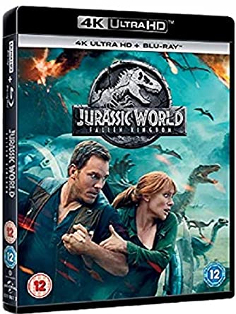 Jurassic World: Fallen Kingdom 4KUHD + Blu-ray 2018 Region
