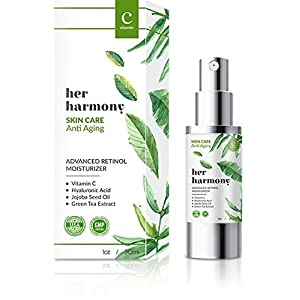 Anti Aging Serum Skin Care Product By Her Harmony With Active Ingredients- Hyaluranic Acid , Jojoba Oi, Green Tea Extract: Helps Reduce Wrinkles, Fine Lines -Youthful & Radiant Skin - Vitamin C Serum