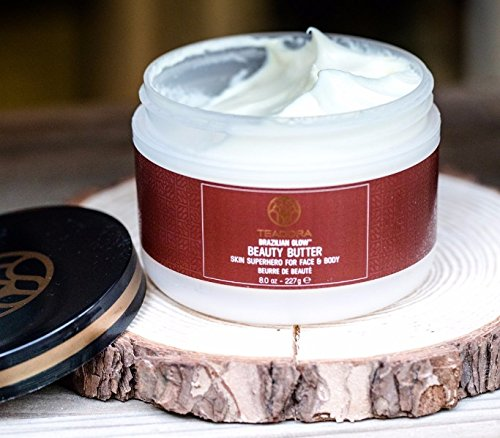 Anti Aging Butter (Vegan Skin Moisturizer (8 oz) Brazilian Glow Beauty Butter. Natural Anti-Aging Skin Care. Rich in vitamins, antioxidants, and fatty acids. Helps improve elasticity and firmness by Teadora)