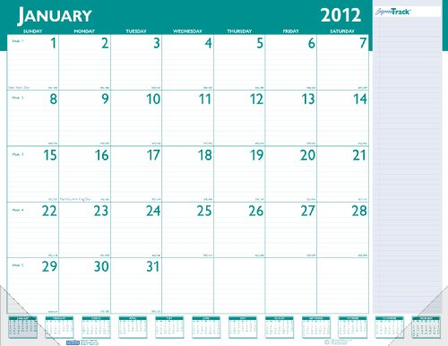 (House of Doolittle Express Track Monthly Desk Pad Calendar, 13-Month Format, January-January, 2013-2014, 22