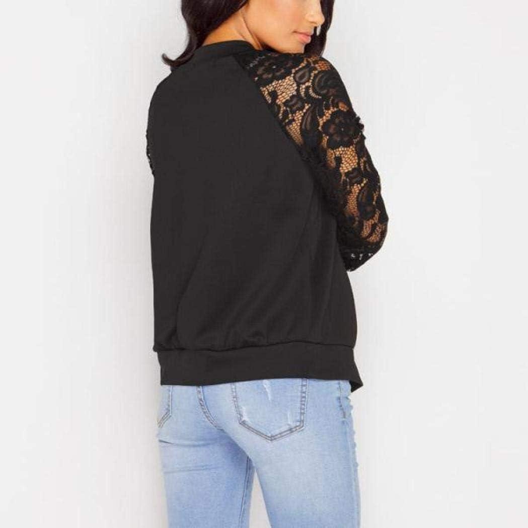 Gilet Court Femme Cardigan Basic Blazer Bol/éro Dentelle Veste de Soiree Chic Gilet Noir Blanc Femmes Veste Manches Longues