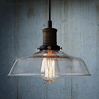 Amazing Nostralux® Modern Industrial Retro Glass Pendant Lamp Ceiling Lights E27    Amber: Amazon.co.uk: Lighting