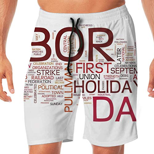Men's Shorts Trunk, Summer Pockets Labor Day, Swim Beach Fit