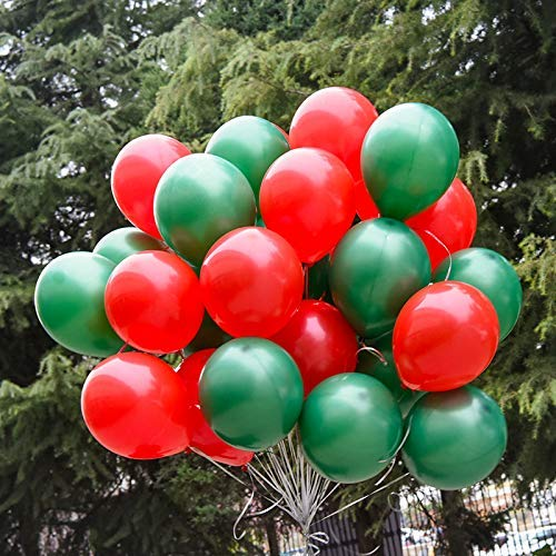 including balloons,Ribbon,Pendant,Air pump,Sticker 100PCS Merry Christmas Balloons Latex Red and Green Balloon,for Christmas Party Decorations,Birthday Party,Weddings Party Decorations Supplies