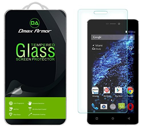 [2-Pack] Dmax Armor for BLU Studio Energy 2 [Tempered Glass] Screen Protector with Lifetime Replacement