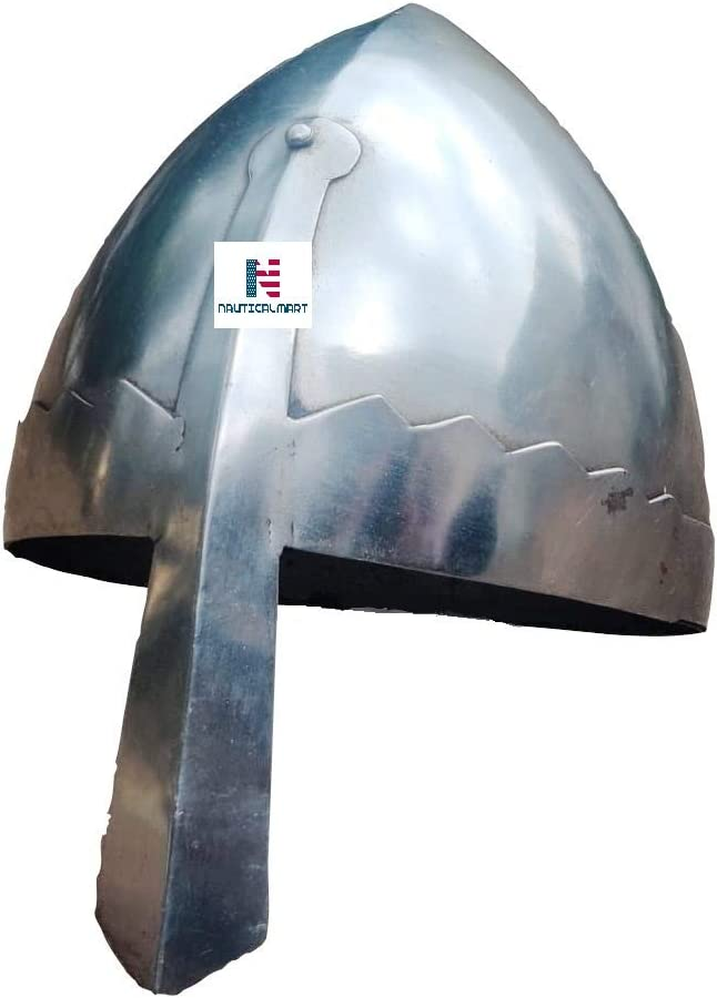 Epic Armoury Norman Nasal Helmet LARP Viking Various Designs Steel Decorative Helmet Suitable for Shooting Knight Helmet