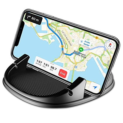 Car Phone Holder, Avanz Car Phone Mount, Universal Anti-Slip Silicone Dashboard Car Pad Mat for iPhone X/8 Plus/7 Plus/6/6S Plus, Samsung Galaxy S9/S8/Note 8/S7 3.5-7 inch Smartphone, GPS Devices