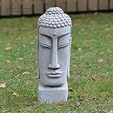 ONEFOLDhandgemachter Buddhakopf aus Stein, Dekoration für Ihr Zuhause, die Terrasse, den Garten oder Wintergarten