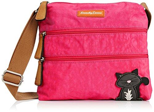 Mujer fuschia Swankyswans Bolso Riley Bandolera Cat Designer Rosa wvS8w