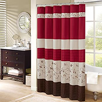 Amazoncom Lush Decor Cocoa Flower Shower Curtain 72 Inch by 72