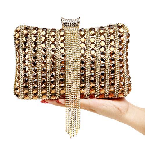 Mujer Dorado 1 YHB451 al Dorado Hombro Bolso para Dorado BESTWALED PqWUA8Izaw