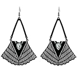Hoxekle Vintage Exaggerated Hollow Water Drops Ethnic Earrings - Antique Dangle Gothic Earrings