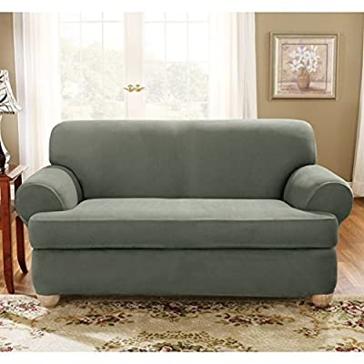 Sure Fit Stretch Suede - Sofa Slipcover - Chocolate