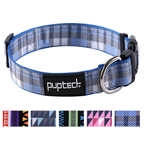 (PUPTECK Adjustable Dog Collar with Pattern Designed)