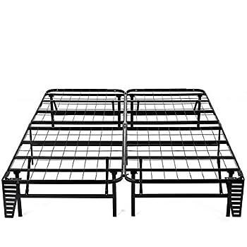 Amazon Com Foldable Bed Frame Metal Platform Base 14inch