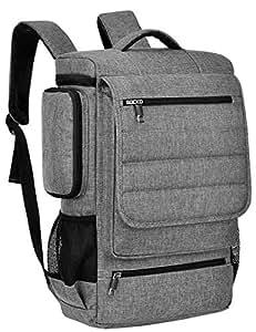 Laptop Backpack,17 Inch Multifunctional Unisex Travel Bags Knapsack,rucksack Backpack Hiking Bags Students School Shoulder Backpacks For 17.3 Inch Laptop Computer,Grey-Black