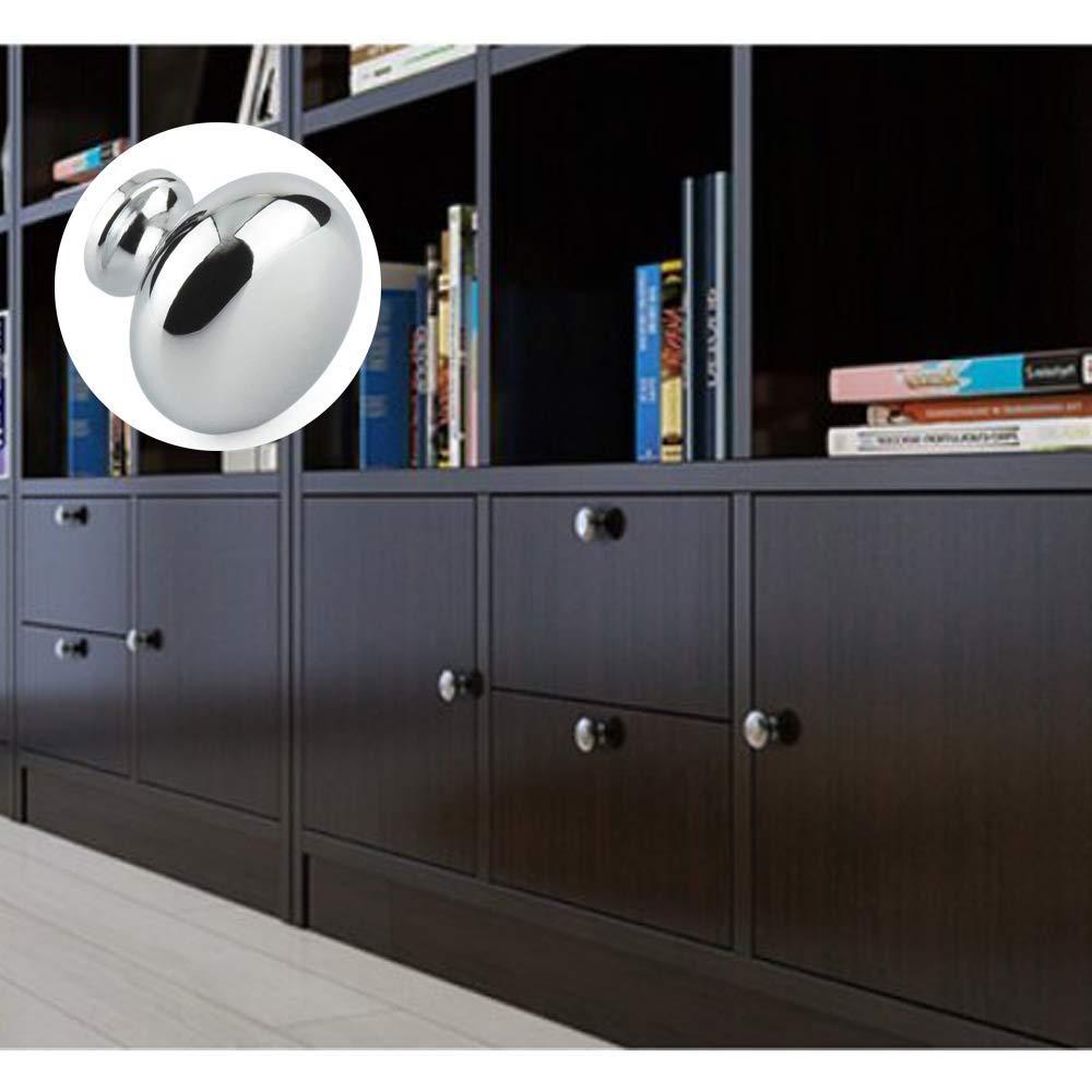 10 unidades Pomos para puerta de armario de 30 mm de aleaci/ón de zinc de alta calidad con tirador para puerta de hongos cajones armarios decoraci/ón del hogar con tiradores Dproptel para cocina