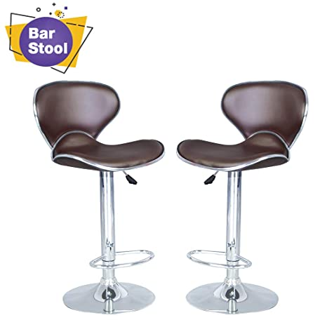 Peachy Counter Height Bar Stools Set Of 2 Barstools Swivel Stool Height Adjustable Bar Chairs With Back Pu Leather Swivel Bar Stool Kitchen Counter Stools Unemploymentrelief Wooden Chair Designs For Living Room Unemploymentrelieforg