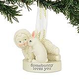 "Department 56 Snowbabies ""Somebunny Loves You"" Porcelain Ornament, 2.01"""